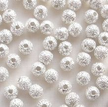 Silver Plated Beads 4mm Stardust Round - 20